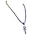 Derek Jeter Men's Black Diamond Necklace with God Eye Cross