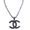 Derek Jeter Men's Black Diamond Necklace with CC Pendent - ZeeDiamonds