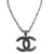 Derek Jeter Men's Black Diamond Necklace with CC Pendent