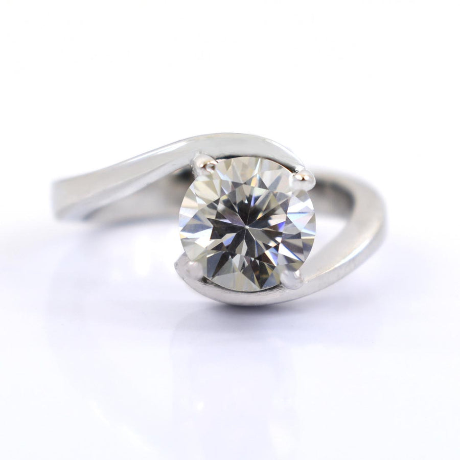 80 Cent White Diamond Solitaire Engagement Ring