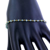 2 mm Blue Diamond Chain Bracelet in 925 Sterling Silver - ZeeDiamonds