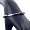 6 mm Black Diamond Bracelet, AAA Quality Certified Diamonds - ZeeDiamonds