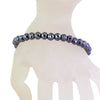 6 mm Black Diamond Bracelet, AAA Quality Certified Diamonds