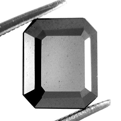 9.30 Ct Loose Radiant Cut Certified Black Diamond.100% Genuine.Earth Mined - ZeeDiamonds