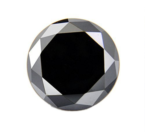 Black Diamond Solitaire Loose Round Brilliant Cut 4.05 ct. Earth mined - ZeeDiamonds