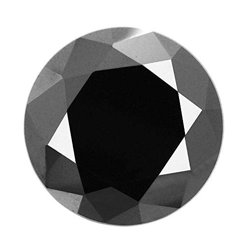 RBC Black Diamond Solitaire 6.05 Cts Earth mined Certified AAA.
