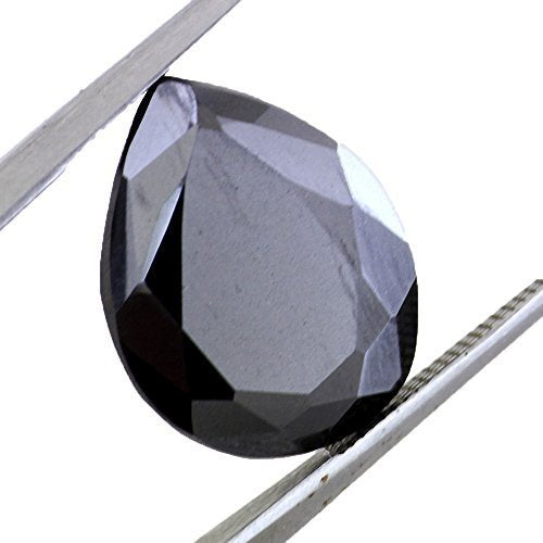 Certified 8.5 Ct Loose Pear Shape Black Diamond Buy Online.Earth Mined - ZeeDiamonds