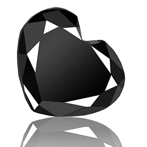 5.80 Ct Loose Heart Cut Certified Black Diamond. Earth Mined .AAA - ZeeDiamonds