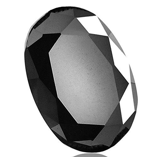 Black Diamond Solitaire Oval Cut 5.00 ct.Earth mined CERTIFIED.AAA - ZeeDiamonds