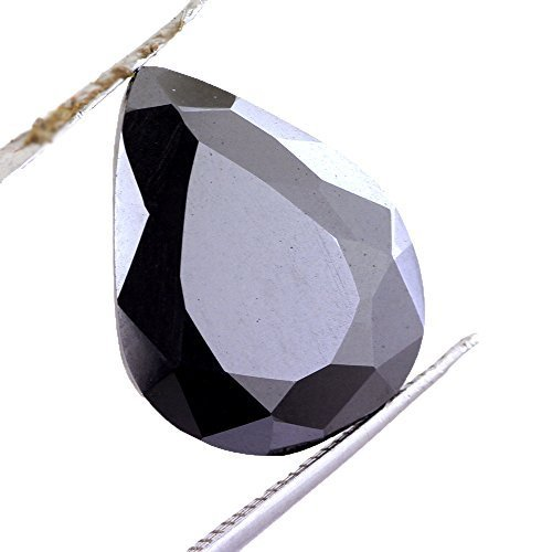 9.50 Ct Certified Pear Shape Black Diamond AAA .Certified.earth Mined - ZeeDiamonds