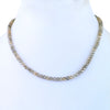 4 mm Certified Champagne Diamond Beads Necklace with 18K Gold Lock - ZeeDiamonds