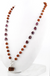54 beads Rudraksha & Ruby Necklace with Customized Guru Bead 1 Mukhi-14 mukhi,Certified Natural Rudraksh - ZeeDiamonds