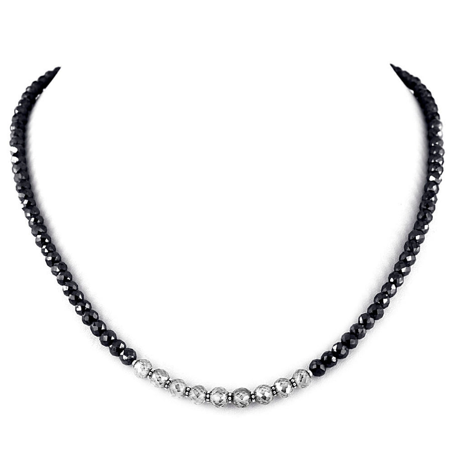 Unique Style 5 mm Black and Champagne Diamond Necklace - ZeeDiamonds