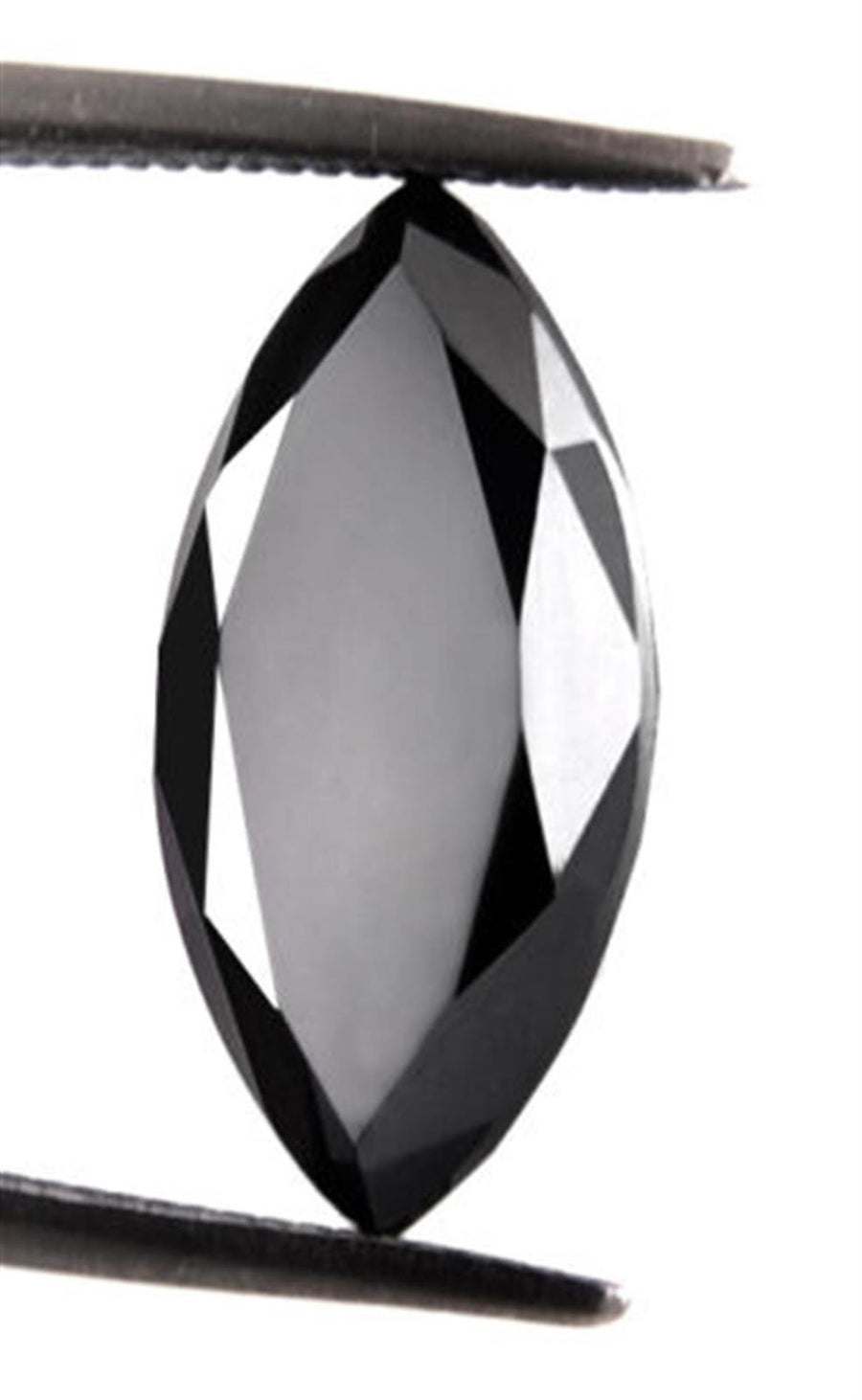 Black Diamond Solitaire 4.50 Cts Marquise Cut. Earth mined.Certified