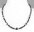 4mm - 8mm AAA Quality Black Diamond Faceted Beads Necklace - ZeeDiamonds