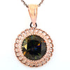 5.00 Ct AAA Quality Blue Diamond Solitaire Pendant In Rose Gold, Great Shine& Luster ! - ZeeDiamonds