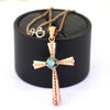 1.00 Ct Blue Diamond Cross Pendant in 925 Silver, 100% Certified, Great Brilliance ! - ZeeDiamonds