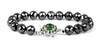 9 mm Black Diamond Men's Bracelet With Emerald Gemstone Clasp - ZeeDiamonds