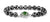 Rare 9 mm Black Diamond Men's Bracelet With Gemstone Clasp