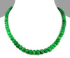 6-7 mm Single Strand Natural Emerald Gemstone Necklace