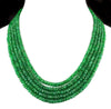 5 Strand Precious Brazilian Emerald Gemstone Necklace - ZeeDiamonds