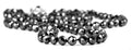 8 mm Black Diamond Beads Necklace With Black Diamond Solitaire Clasp - ZeeDiamonds