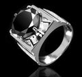 3-5 Ct Black Diamond Solitaire Men's Ring, Wedding Ring - ZeeDiamonds