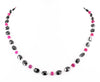Stunning Oval Fancy Black Diamond Beads And Ruby Beads Necklace