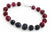 7mm-8mm Faceted Ruby Gemstone Bracelet With Blue Sapphire Beads - ZeeDiamonds
