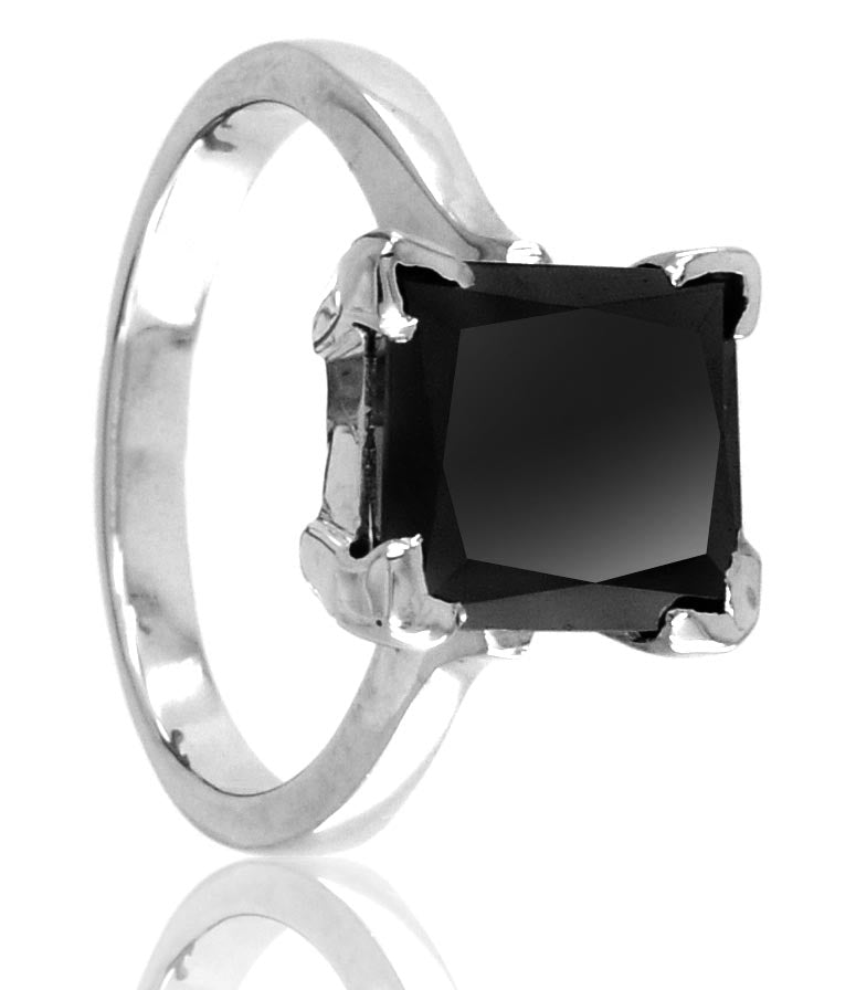 Details about  /Engagement Princess Diamond Black Ring 2.80 ct Wedding Enhanced Certified AAA