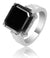 Designer Black Diamond Men's Rings in Customized Finish