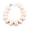 Peach Pearl (Moti) Gemstone Designer Bracelet Women's In 6-8.5 Inches - ZeeDiamonds