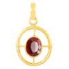 5.20 Ratti Ruby Gemstone Fancy Designer Pendant in Panchdhatu - ZeeDiamonds