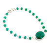 6-7cts Certified Emerald Gemstone Sterling Silver Astrology Bracelet - ZeeDiamonds