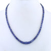 4 -5 mm 100% Certified Tanzanite Gemstone Necklace In 925 Silver - ZeeDiamonds