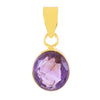 Lab Certified Oval Shape Amethyst Gemstone in Panchdhatu Metal - ZeeDiamonds