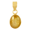 Certified Yellow Sapphire Pukhraj Gemstone, Birthstone Astrology Pendant - ZeeDiamonds