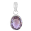 5.25 Ratti Natural Amethyst Oval Shape Gemstone Silver Pendant with Certifcate - ZeeDiamonds