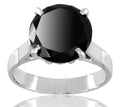 1-5 Ct Round Brilliant Cut Black Diamond Solitaire Ring - ZeeDiamonds