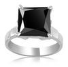 Copy of 1-3 Ct Princess Cut Black Diamond Solitaire Engagement Ring