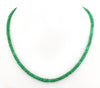 Single Strand 3 mm - 4 mm Emerald Gemstone Necklace - ZeeDiamonds