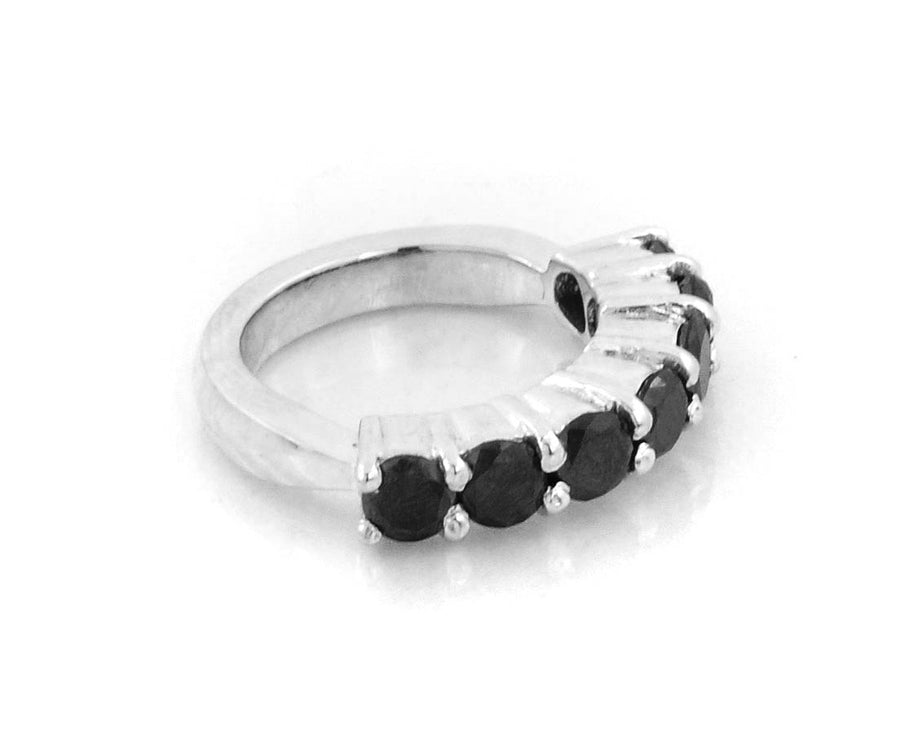 .10 Ct Black Diamond Band Wedding Ring - ZeeDiamonds