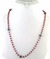4-5 mm Ruby And Black Diamond Chain Necklace