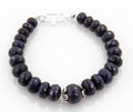 Designer 8 mm Blue Sapphire Beaded Gemstone Bracelet - ZeeDiamonds
