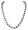 8 mm Derek Jet Black Diamond Long Chain Necklace - ZeeDiamonds