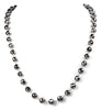 8 mm Derek Jet Black Diamond Long Chain Necklace