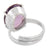 6.25 Ratti Oval Cut Amethyst Silver Adjustable Ring - ZeeDiamonds