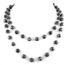 Certified 8mm Black Diamond Long Chain black diamond Necklace for men - ZeeDiamonds
