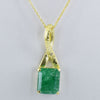 Elegant 10ct Energized & Certified Emerald Gemstone Astrology Pendant