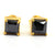 1 Ct to 3 Ct Black Diamond Solitaire Studs earrings in Sterling Silver - ZeeDiamonds